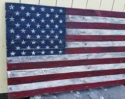 50X28 Pallet American Flag Rustic Wooden