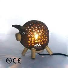 Made Out Of Coconut Shell Shaped Like A Pig Perfect For The Pool House Pen