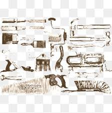 Vector Woodworking Tools Brush PNG And
