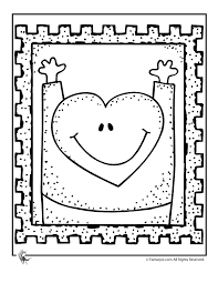 Heart Stamp Coloring Page