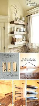 Rustic Floating Shelves Shelf Bathroom Wood Lowes