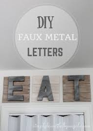 Simply Beautiful By Angela DIY Faux Metal Letters For The Kitchen