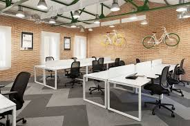 Industrial Office Space With Brick Wall