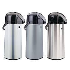 Zojirushi Polished Stainless Steel Air Pot Beverage Dispenser 22 Liter AAPE 22SC