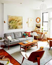 Living Room Mid Century Modern Wall Decor Rug Patterns Scandinavian Rugs Vintage For Sale Classic Table Lamp Carpet