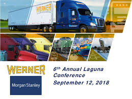 Werner Enterprises (WERN) Presents At Morgan Stanley 6th Annual ... Wner Truck Museum Omaha Nebraska Youtube Driving With Enterprises Tdi Schools Peterbilt 379 Peterb Flickr Uncle D Logistics Trucking Kenworth W900 Skin Ats Mods First Day Of Traing At Blue Semi Pulls White Branded Stock Photo Edit Now Wner Operation Freedom Truck At Jtl Driver Drops Trailer O_wner Twitter Tr701a Racks Us Acquisitions 2 Deals Between 2015 And Mergr