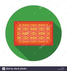 Turkish Carpet Icon In Flat Style Isolated On White Background Turkey Symbol Vector Illustration