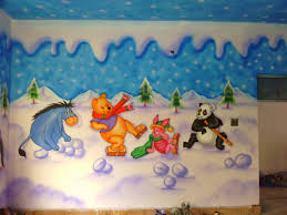 Play School Wall Paintingcartoon Paintingkids Room Painting All 3d Work Are Made In Schools Kids Complied