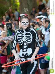 Little Five Points Halloween Parade Pictures by Female Skeleton Does Hula Hoop At Halloween Parade Editorial Stock