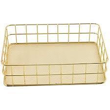 seully goldener schmiedeeiserner aufbewahrungskorb metall speicher korb eisen metallgitter regale desktop finishing korb für badezimmer