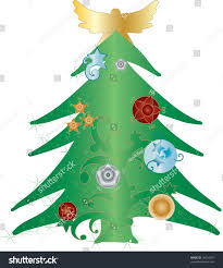 Types Of Christmas Trees With Pictures by Christmas Tree With Angel On Top Christmas Lights Decoration