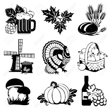Fall Harvest Silhouette Clipart 1
