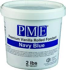 Wilton Decorator Preferred Fondant Gluten Free by Amazon Com Pme Premium Vanilla Rolled Fondant Navy Blue 2