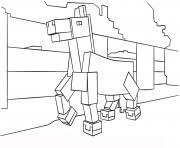 Printable Minecraft Horse Coloring Pages
