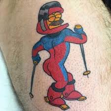 Ill Take A Stab At It Being Man As Most Women Generally Arent This Hairy Or Silly Cartoon Tattoo Of