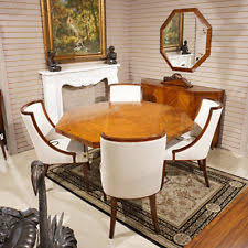 Outrageous French Rosewood Art Deco Style Dining Breakfast Table U0026 Chairs Mint On