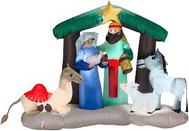 Gemmy Halloween Inflatables 2015 by Amazon Com Gemmy Industries Tv208788 Air Blown Nativity Scene