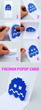 Pac Man Stencil Pumpkin Carving by Pacman Ghost Popup Cards Minieco