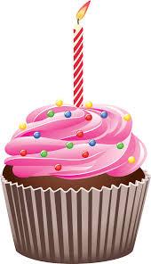 Sweet Birthday Cupcake Clipart