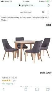 Used Dining Table For Sale Modern Angled Leg Round In Ca Timber