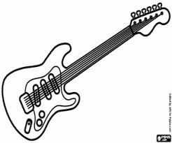 Electric Guitar With The Strings Advertisement Maracas Coloring Page