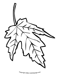 Maple Leaf Free Coloring Pages For Kids