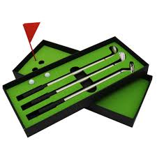mini golf de bureau nouvelle mini golf putter stylo à bille golfeurs boîte cadeau