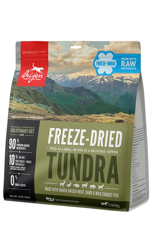 ORIJEN Grain Free Tundra Adult Freeze Dried Dog Food - 6 oz