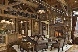 Rustic Living Room With Jasper 21 Bowl Pendant Ligh Hardwood Floors Wall Sconce