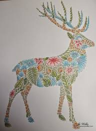 Animal Kingdom Coloring Book Deer Adult Colouring Animals