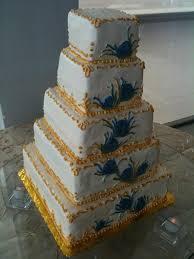 Sweet Love Bakes – Gold Peacock Wedding Cake