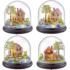 Diy Music Box Dolls House Dollhouse Handmade Miniature Kids Kits Toy