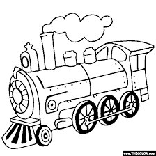 Train Online Coloring Page