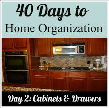 Organizing your cabinets and drawers