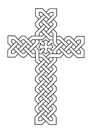 Cross Coloring Pages Printable Archives Best Page Line Drawings
