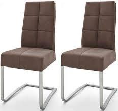 mca furniture esszimmerstuhl salva schwingstuhl 2er set mit tonnentaschenfederkern belastbar bis max 120 kg