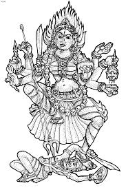 Hindu God Coloring Pages Clipart Goddess Durga Pencil And In Color