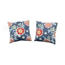 Decorative Outdoor Lumbar Pillows by Martha Stewart Living Charlottetown Washed Blue Outdoor Throw