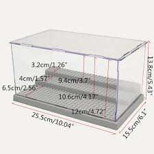 New 3 Steps Display Case Box Dustproof ShowCase Gray Base For LEGO Blocks Acrylic Plastic 255X155X138cm In Action Toy Figures From