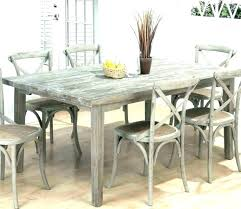 Long Dining Room Tables Table With Bench And Chairs Farmhouse Set Weathered Grey