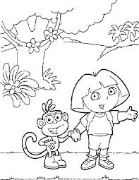 Kids Coloring Pages Dora