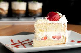 Download Strawberry Shortcake Slice stock image Image of vanilla