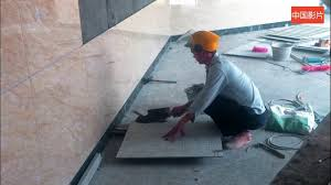 large format wall tiles installation