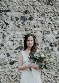Sage Green Peach Wedding Bouquet