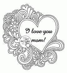 I Love You Mother And Free Mothers Day Coloring Pages