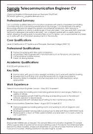 Telecom Manager Resume Samples Telecommunication Sample Engineer