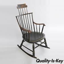 Antique American Primitive Black Painted Wood Windsor Rocking Chair ... An Early 20th Century American Colonial Carved Rocking Chair H Antique Hitchcock Style Childs Black Bow Back Windsor Rocking Chair Dated C 1937 Dimeions Overall 355 X Vintage Handmade Solid Maple S Bent Bros Etsy Cuban Favorite Inside A Colonial House Stock Photo Java Swivel With Cushion Natural 19th Century British Recling For Sale At 1stdibs Wood Leather Royal Novica Wooden Chairs Image Of Outdoors Old White On A Porch With Columns Rocker 27 Kids