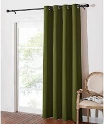 pony gardinen wohnzimmer vorhang blickdicht thermo gardinen blickdicht fenster vorhänge für weihanchten deko ösenschal oliv grün 1 stück h