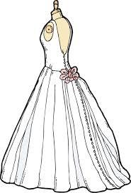 Clip Art Wedding Dress Clipart