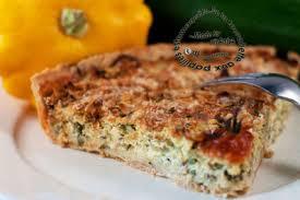 cuisiner le patisson blanc tarte à la courgette et au pâtisson brousse oignon et menthe de